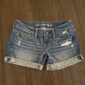 American eagle jean shorts AEO size 0